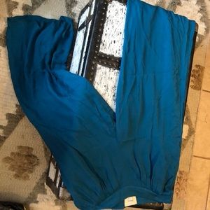 Anthropologie teal wide leg pants size 6